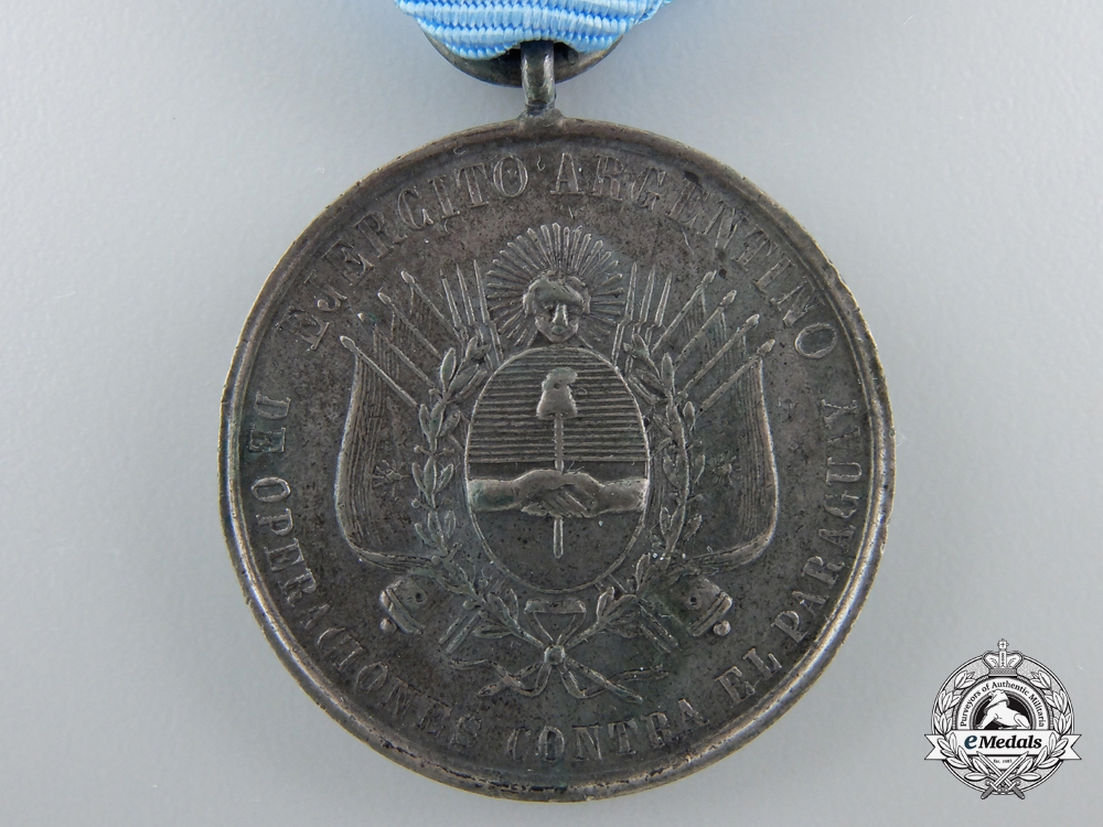 Argentina, Republic. A Medal for the Paraguayan War 1865-1870