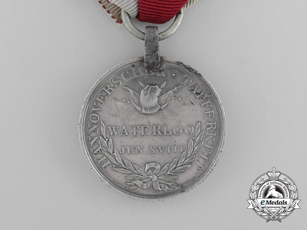 The Outstanding Waterloo Medal to Captain August von Reden; Wounded at Hougoumont