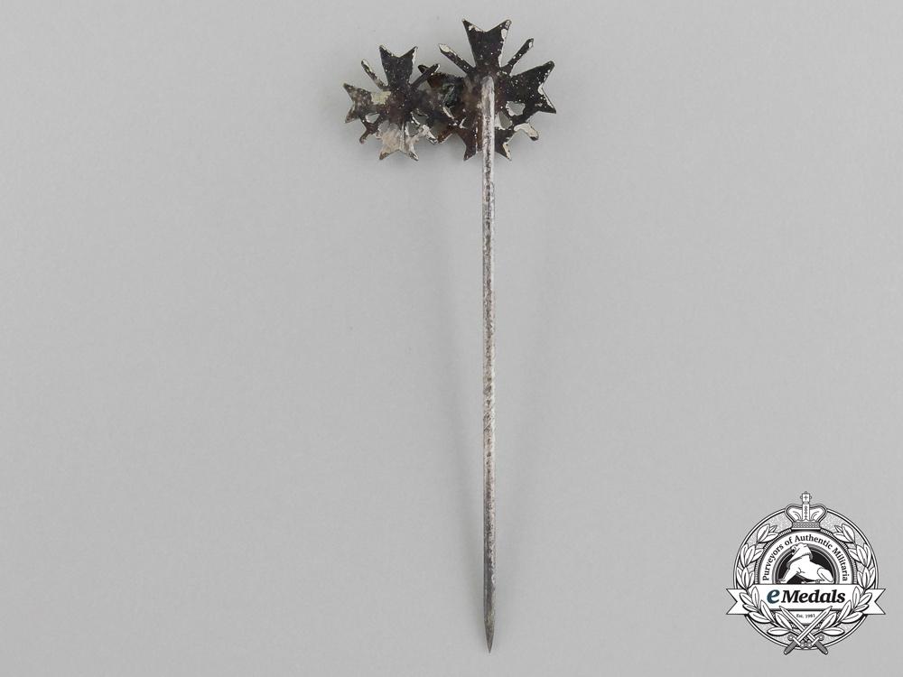 A German War Merit Cross Miniature w. Swords; First and Second Class