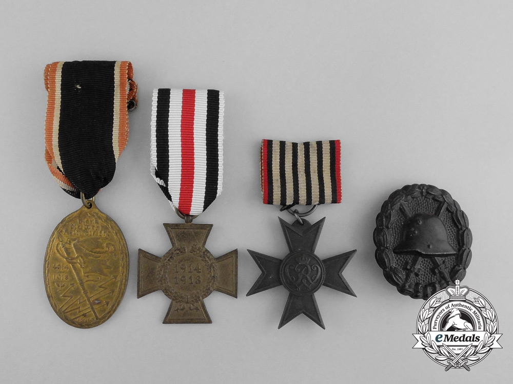 A Lot of Four Imperial German Medals, Awards, and Decorations