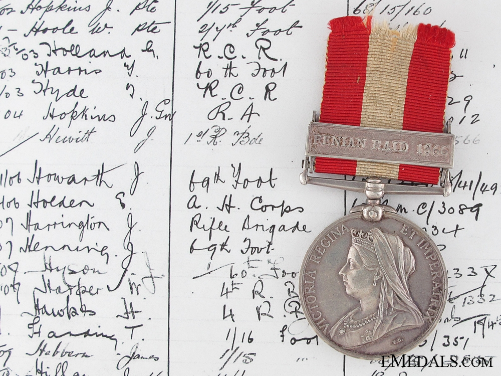A Canada General Service Medal to the Rifle Brigade