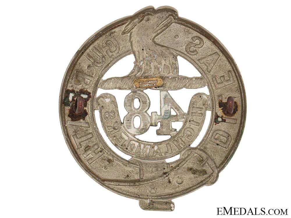48th Highlanders Glengarry Badge