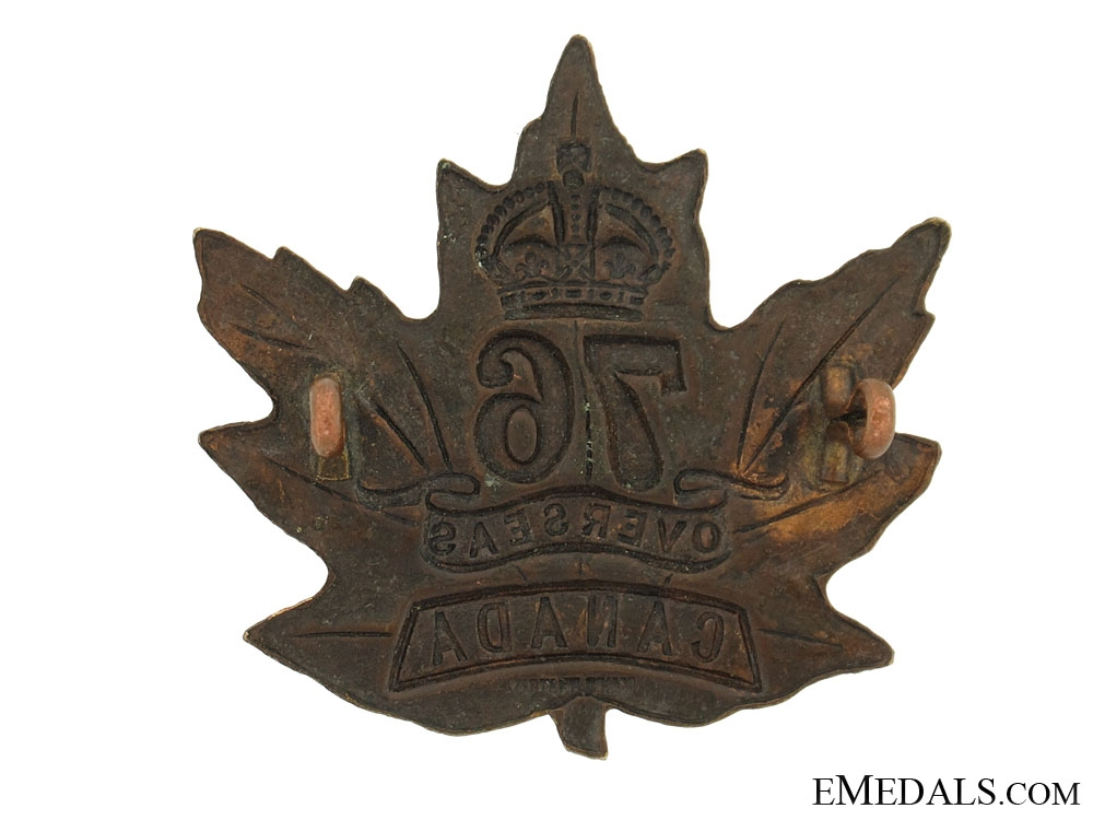 WWI 76th Infantry Battalion Cap Badge