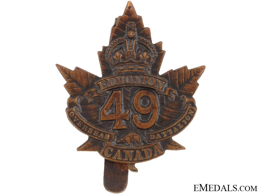 49th (Edmonton) Overseas Battalion Cap Badge, CEF