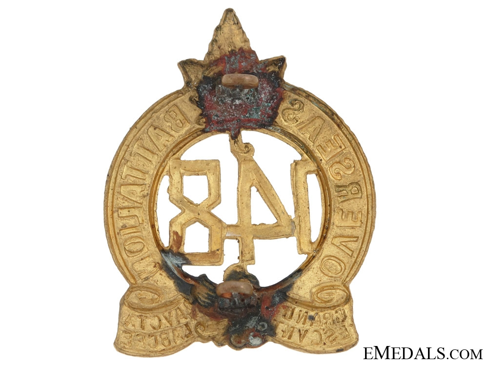 148th Battalion (Montreal) Officers Cap Badge