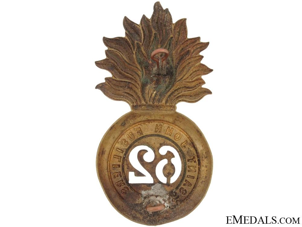 62nd St. John's Fusiliers Fur Cap Grenade