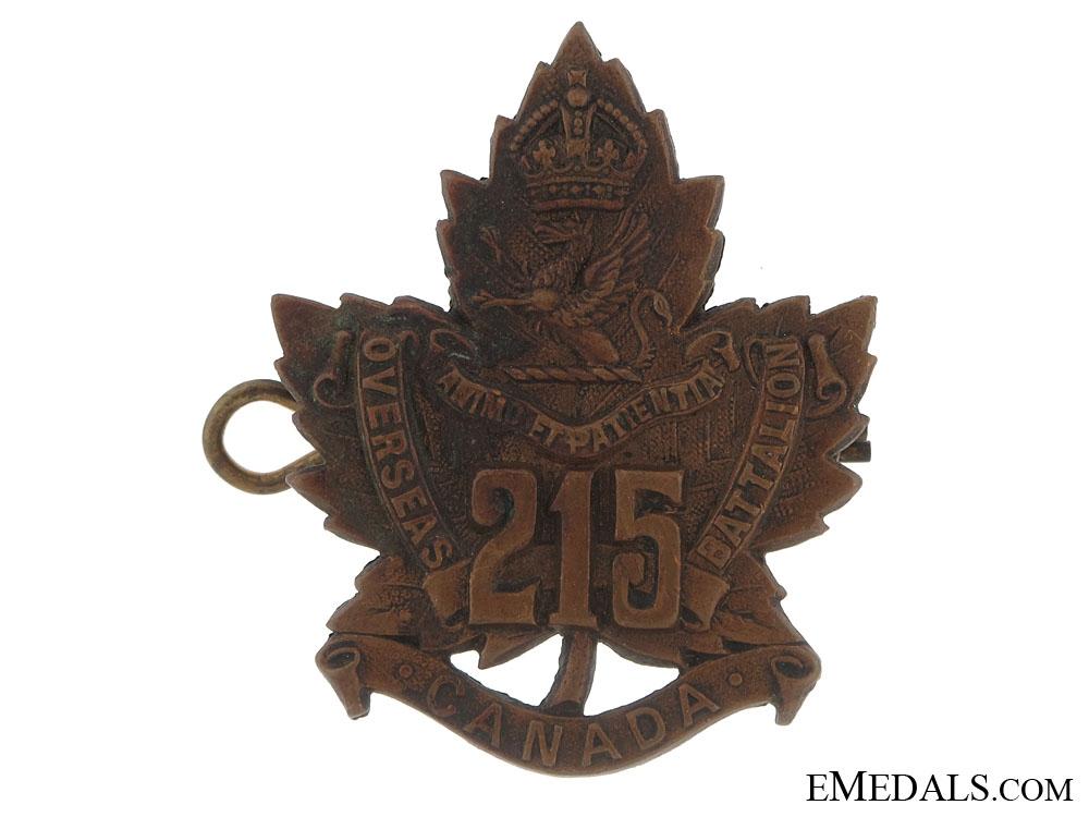215th Battalion (Brantford, Ontario) Cap Badge