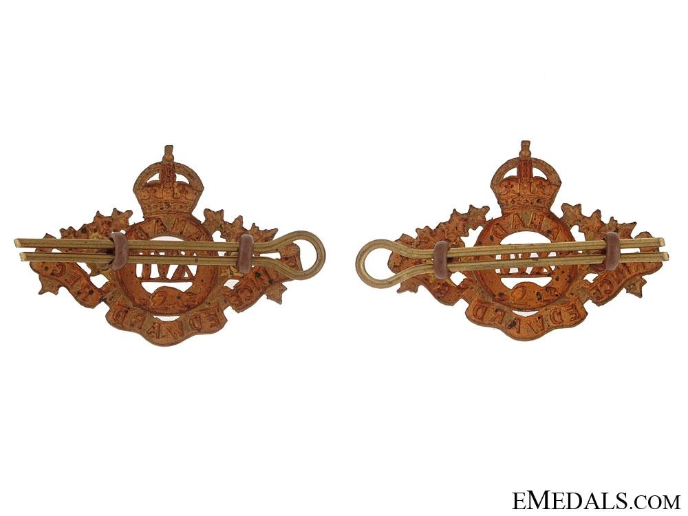 16th Prince Edward Regiment Collar Badges