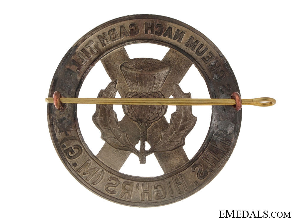 North Nova Scotia Highlanders Glengarry Badge