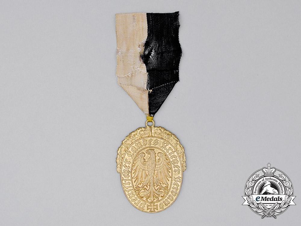 A 50 -Year Membership Award of the Prussian Regional Veteran's League