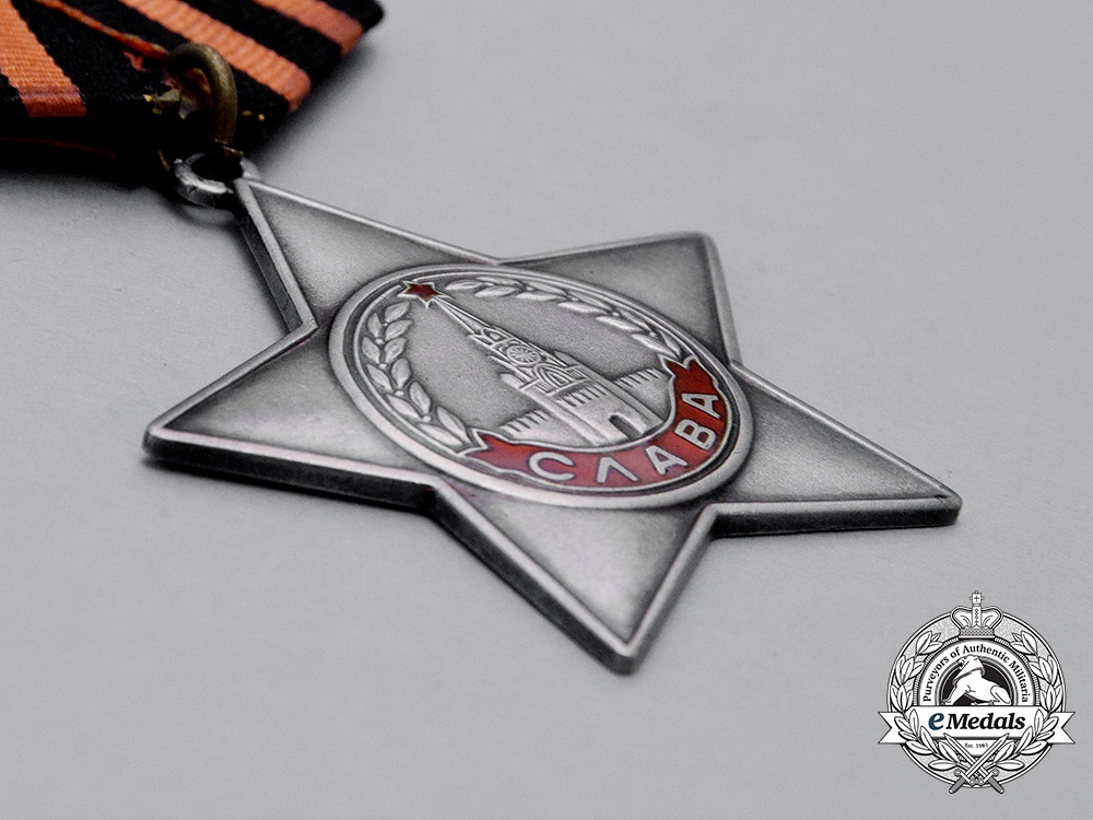 A Soviet Russian Order of Glory; 3rd Class