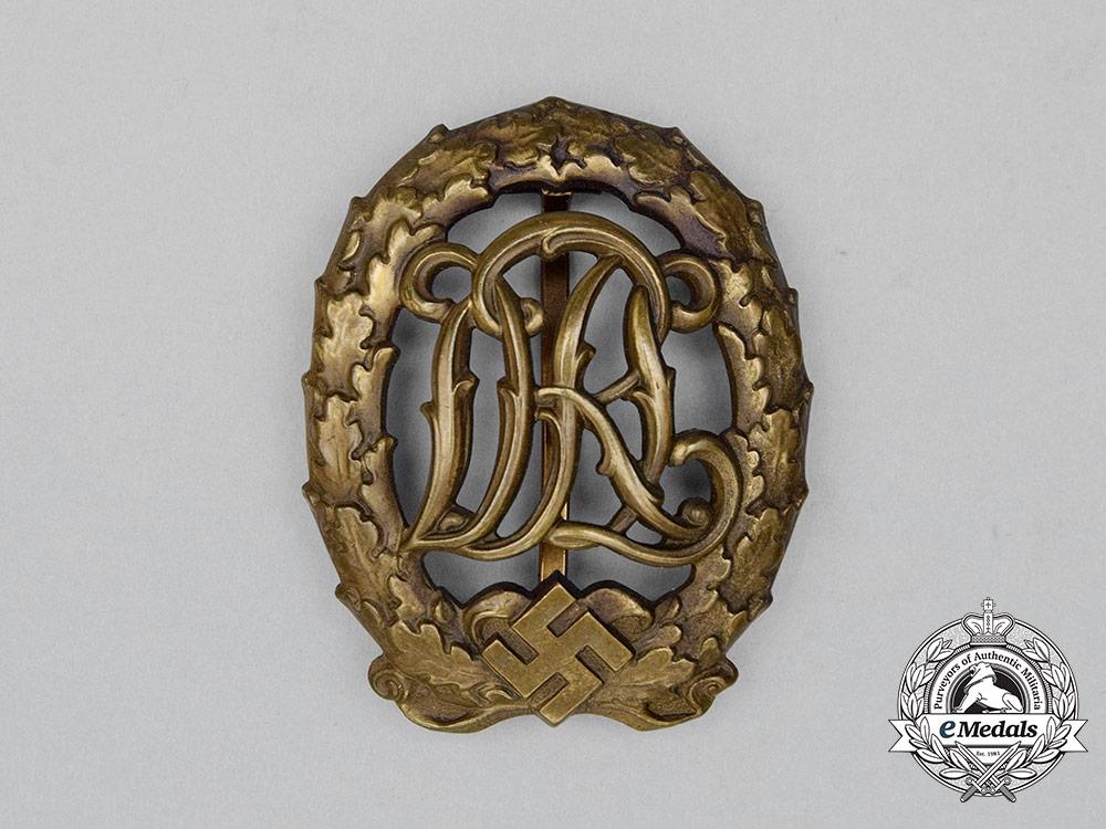 A Third Reich Period DRL Bronze Grade Sports Badge by Wernstein of Jena
