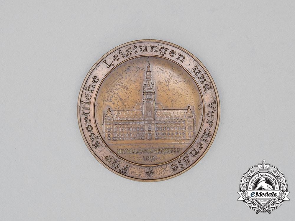 A 1931 Hamburg Police Sports Championship Award Table Medal