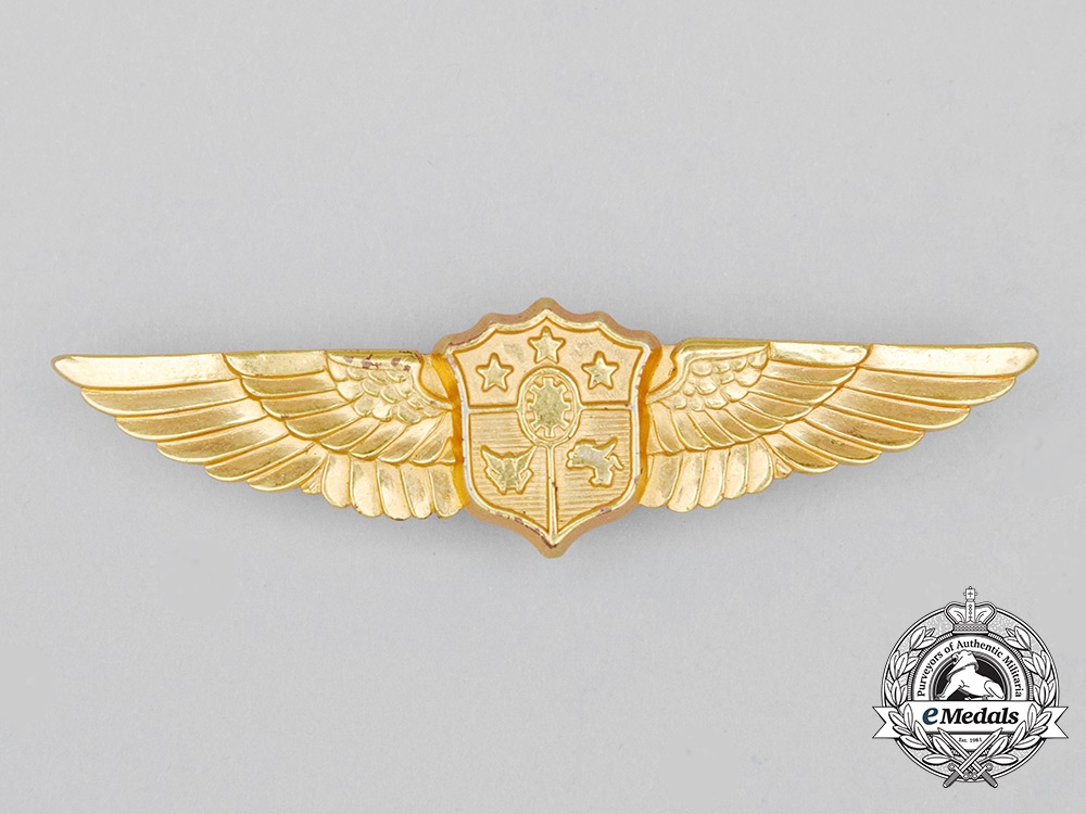 A Philippine Air Force (PAF) Aircrew Badge