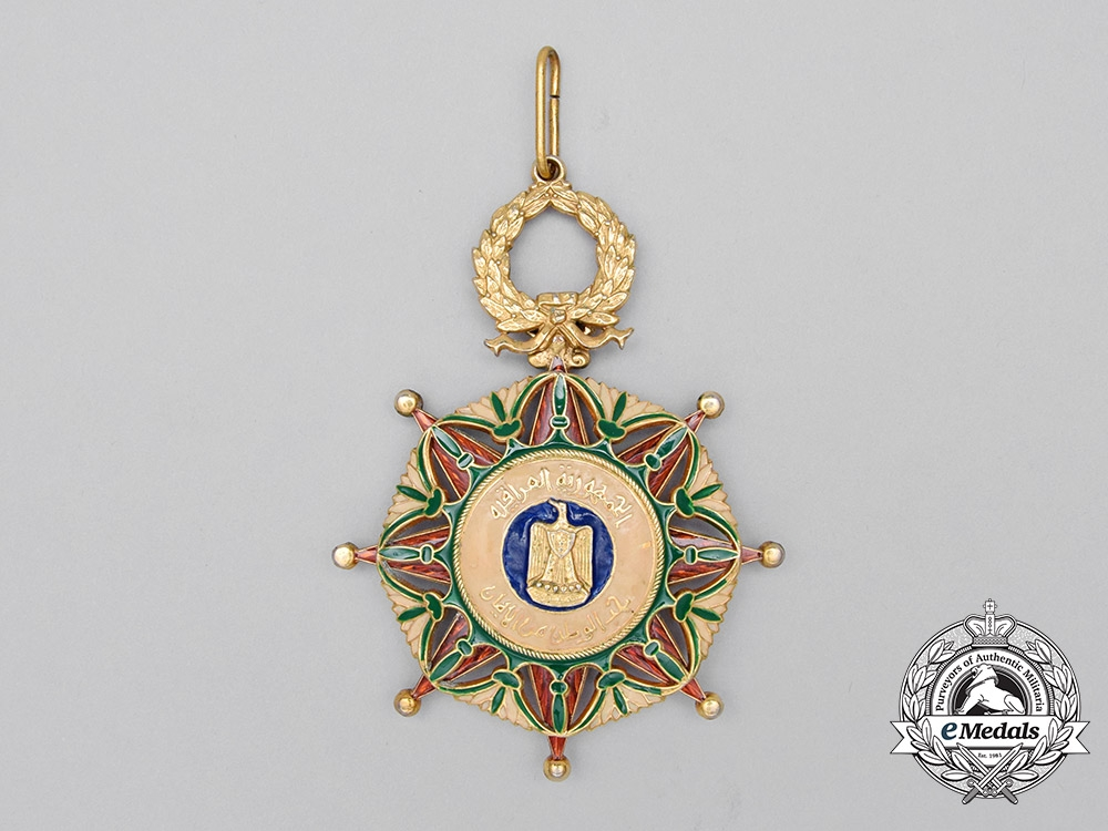 An Iraqi Order of the Two Rivers; Officer's Neck Badge 2nd Class Civil Division