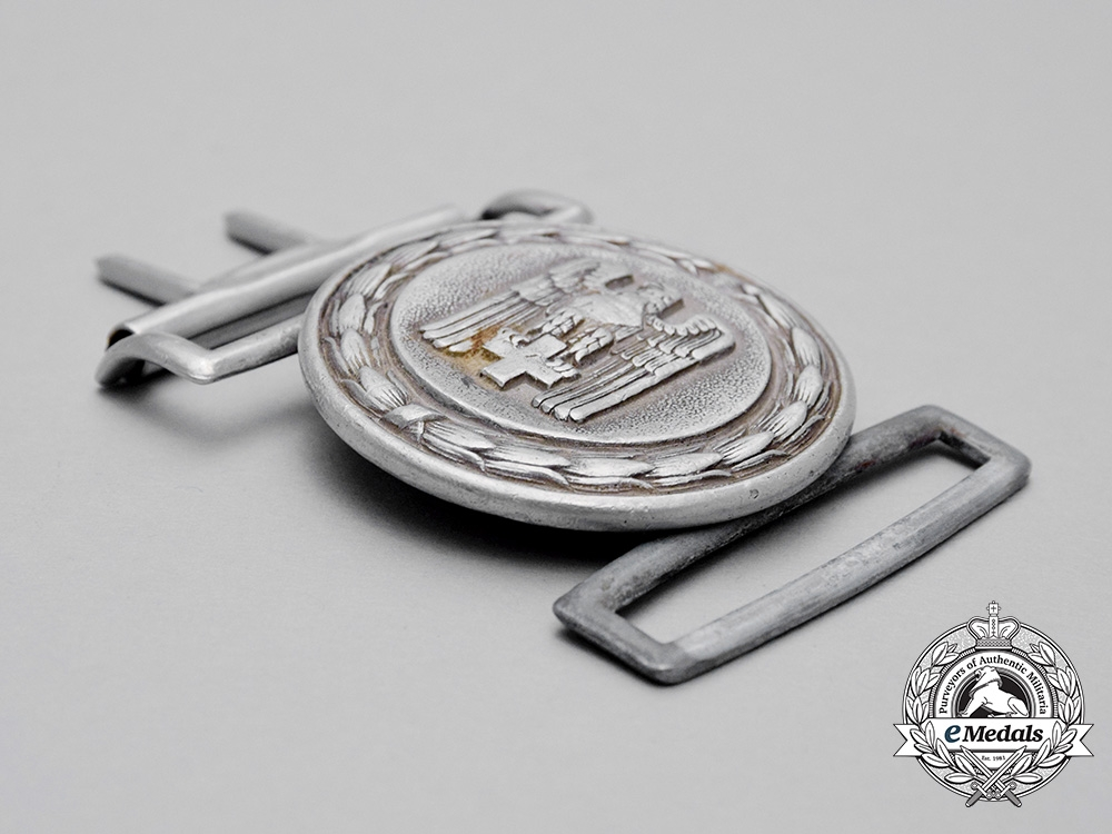 A DRK (German Red Cross) Officer's Belt Buckle by Manufacturing Contract 2