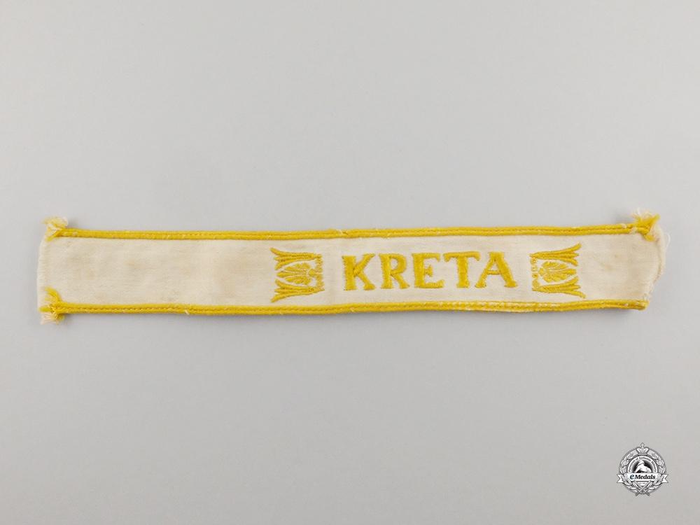 A Second War German Kreta Campaign Cuff Title; Uniform Removed