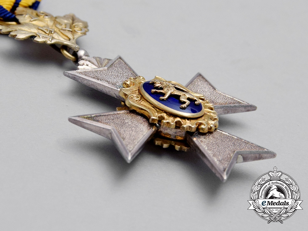 A Fine 1914/15 Princely Honour Cross of Schwarzburg; 3rd Class with Oakleaf Suspension