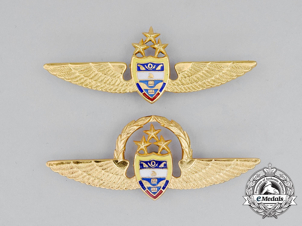 Two Colombian Air Force (FAC) Pilot Badges