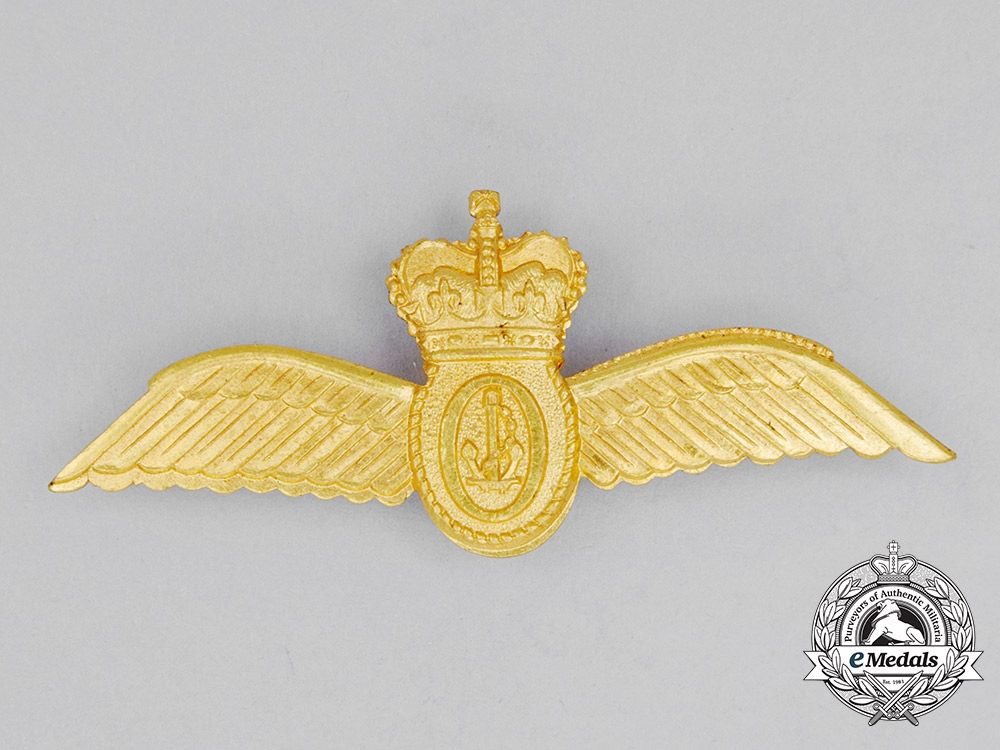 A Royal Australian Navy (RAN) Fleet Air Arm (FAA) Observer's Badge