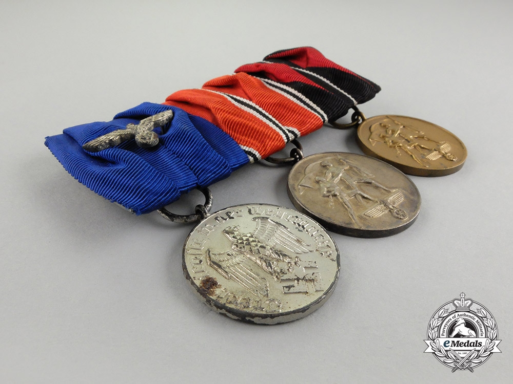 A Second War German Wehrmacht Long Service Medal Bar
