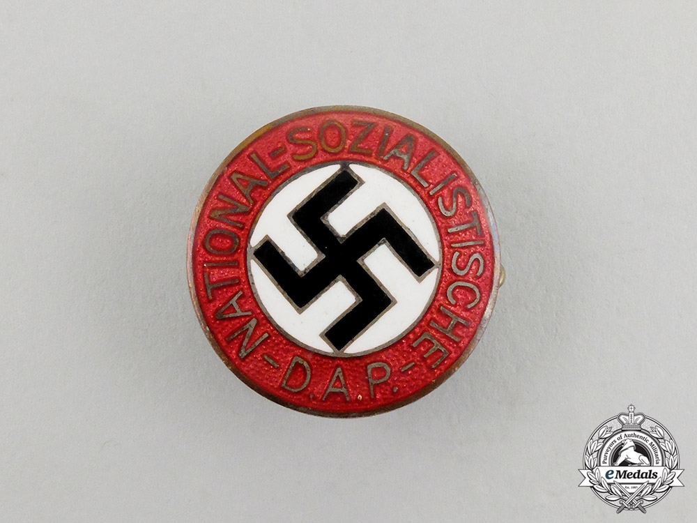 A NSDAP Party Member's Lapel Badge by Karl Schenker