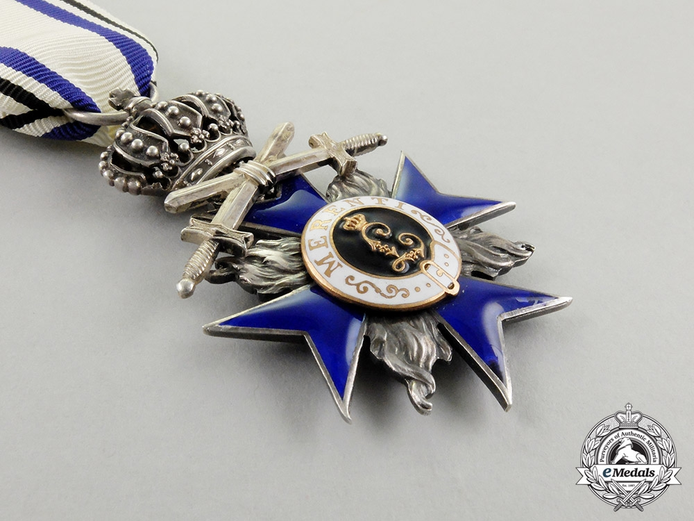 A Bavarian Military Merit Order; 4th Class with Swords & Crown