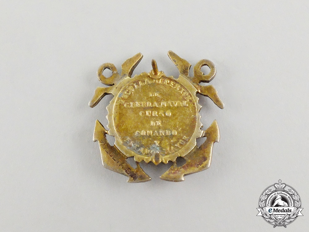 A Peruvian Superior Naval War School Command and Major State Course Badge