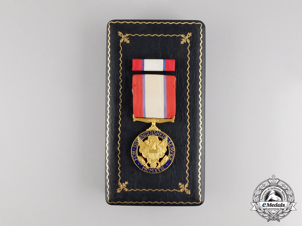 A Second War American Army Distinguished Service Medal; Numbered & Cased