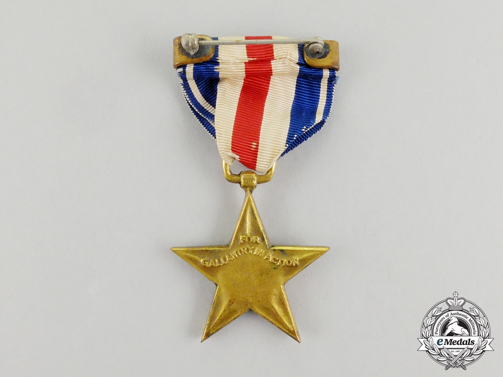 A Second War American Silver Star; Numbered & Cased