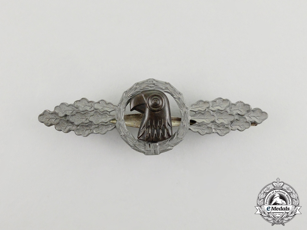 Germany, Luftwaffe. A Reconnaissance Unit Squadron Clasp, Silver Grade