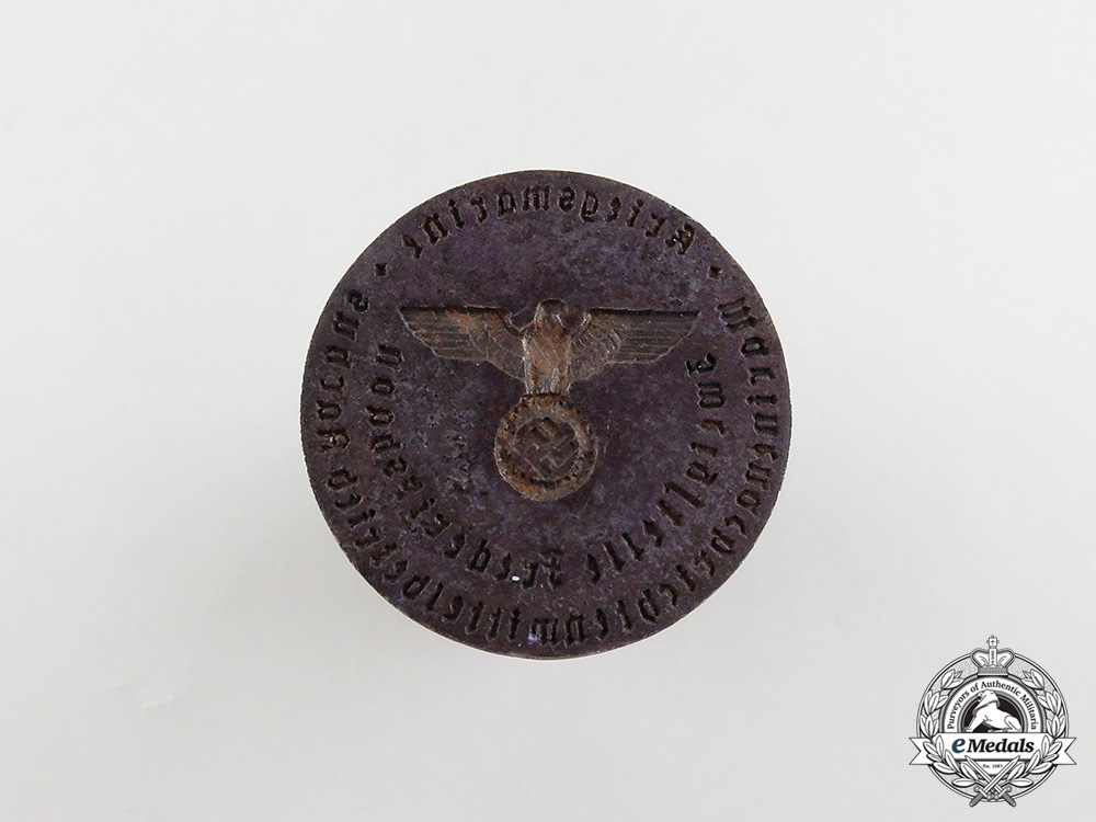 An Ink Stamp of the Seal of the Kriegsmarine Field Postal Office in Denmark