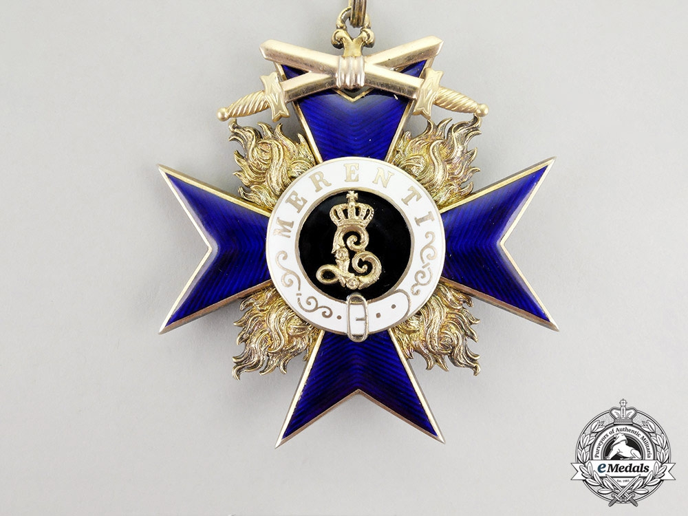 An Extremely Rare Bavarian Order of Military Merit; 1st Class Cross for Civilian Personnel; 4 Awarded