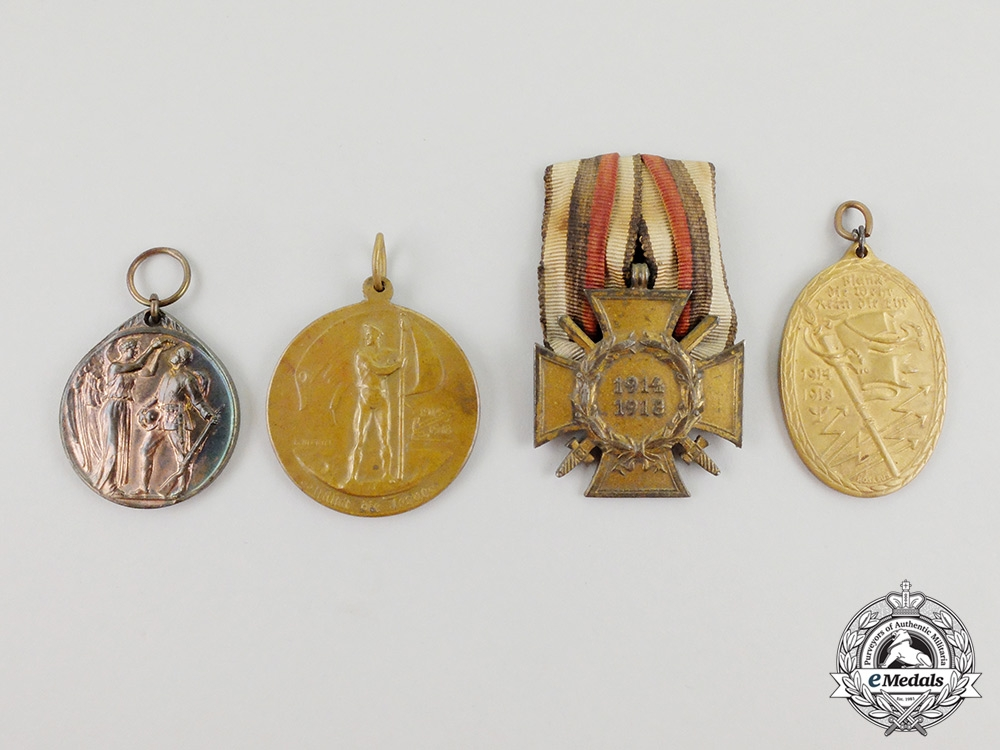 Four First War Imperial German Veteran's Medals