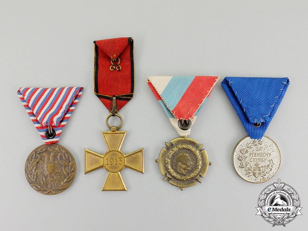 Four Serbian Awards & Decorations