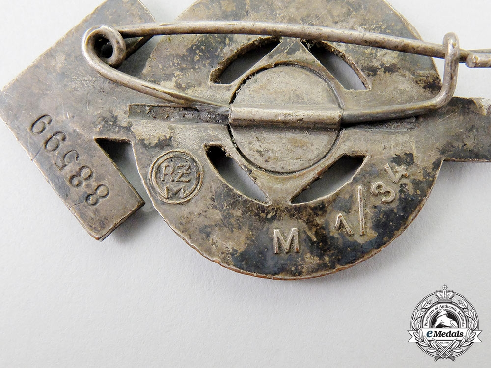 An HJ Proficiency Badge by Karl Wurster, Silver Grade
