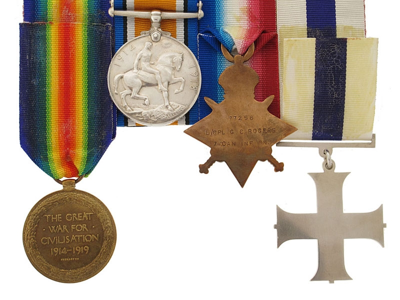 The Awards of Canadian Cpt. G.C.Rogers MC, Royal Flying Corps