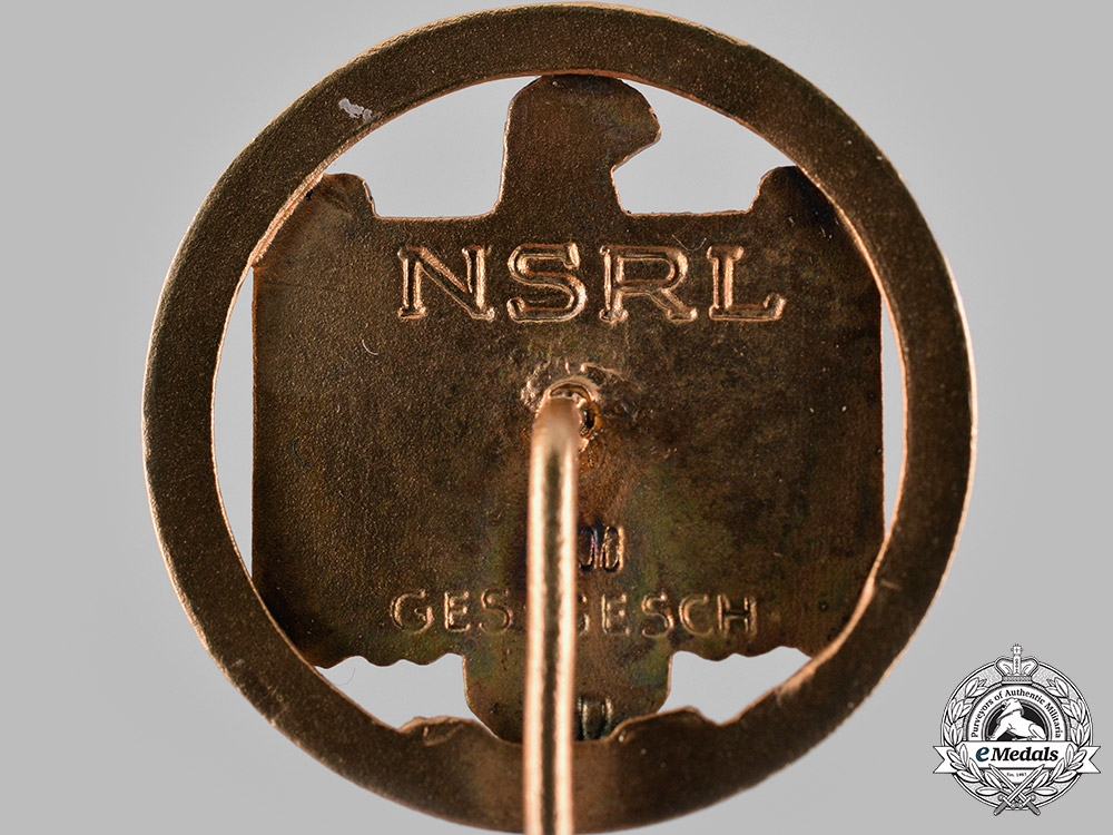 Germany, NSRL. A National Socialist League of the Reich for Physical Exercise (NSRL) 1944 Championship Badge