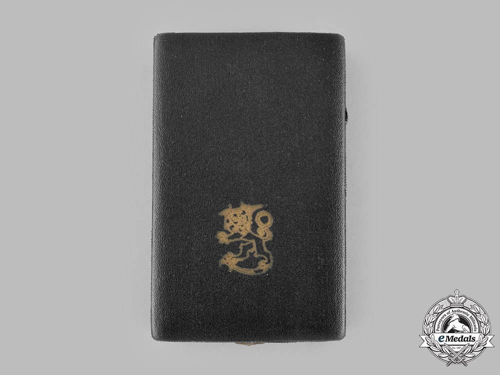 Finland, Republic. An Order of the White Rose, Commander Cross Case