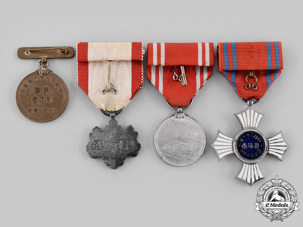 Japan, Empire. A Lot of Four Decorations & Awards