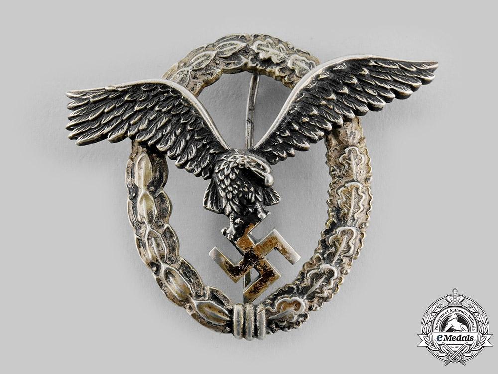 Germany, Luftwaffe. A Pilot's Badge, by F. W. Assmann & Söhne of Lüdenscheid