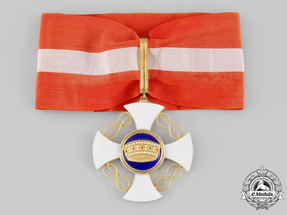 Italy, Kingdom. An Order of the Crown in Gold, III Class Commander