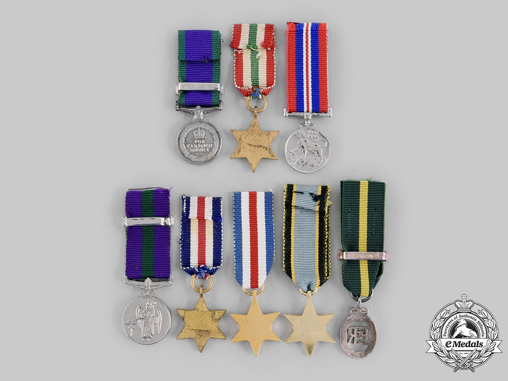 United Kingdom. A Lot of Eight Miniature Medals