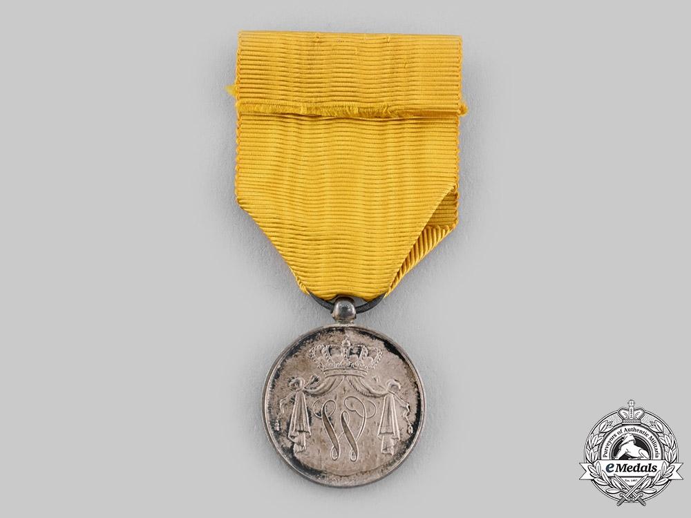 Netherlands, Kingdom. A Royal Navy Long Service Medal, Silver Grade Reduced Version for NCOs, c.1900
