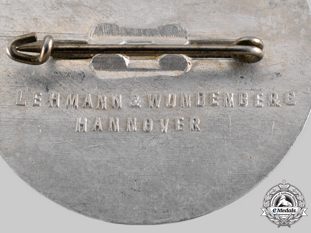 Germany, SA. A 1936 Braunschweig Sports Games Commemorative Badge by Lehmann & Wundenberg