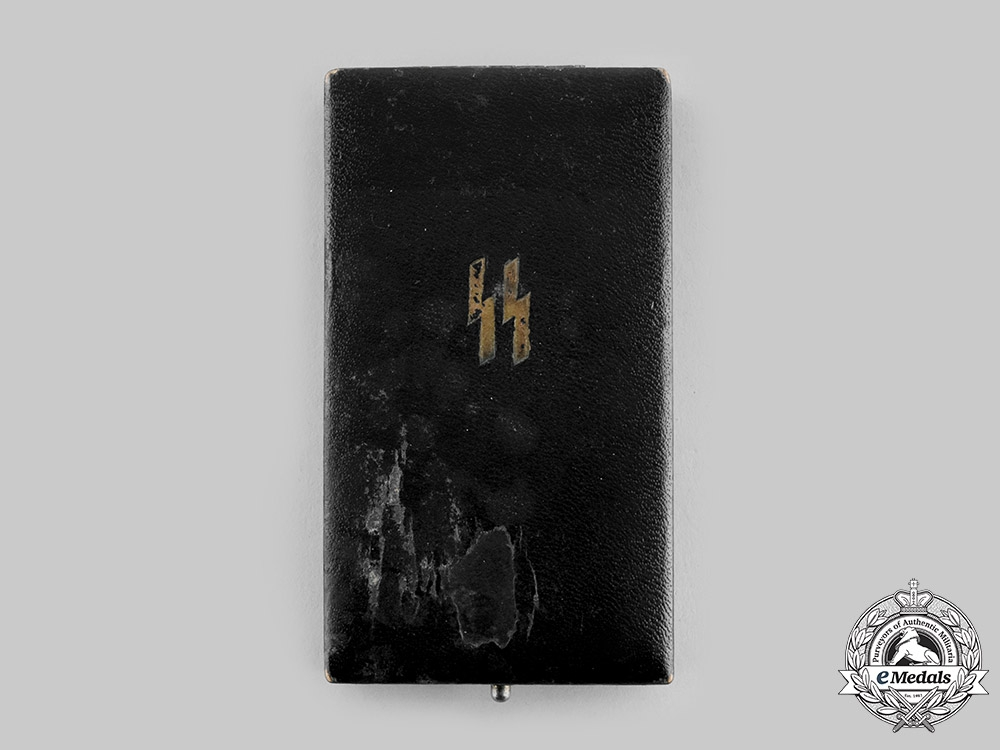 Germany, SS. A Case for a 25 Year Long Service Cross, Wide Ribbon Version