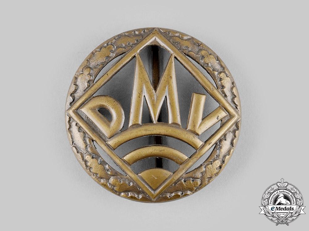 Germany, DMV. A German Motorsports Association (DMV) Bronze Merit Badge