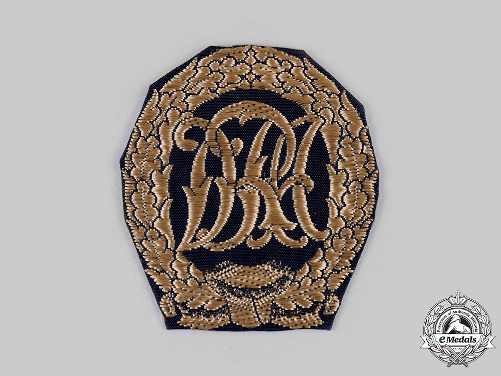 Germany, DRL. A DRL Sports Badge in Silver, Cloth Version