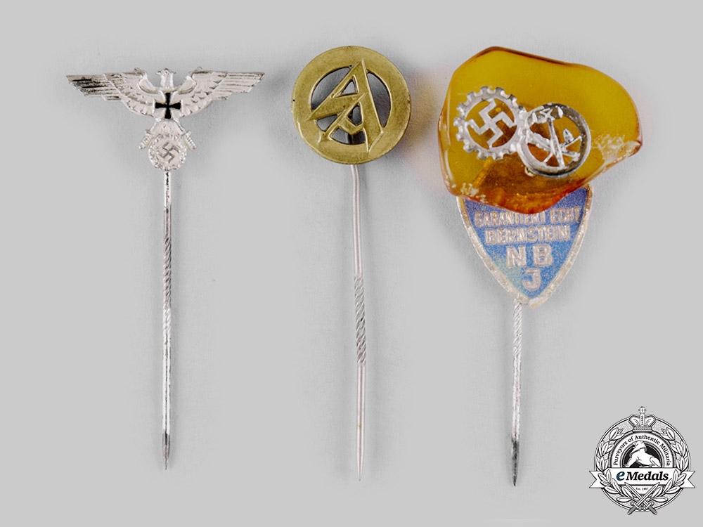 Germany, Third Reich. A Lot of Third Reich Organization Stick Pins