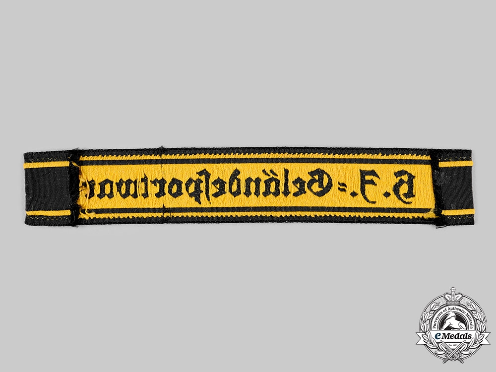 Germany, HJ. A Field Exercise Leader's Cuff Title